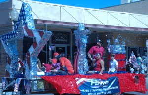 Hidalgo Medical Services had one of many floats this year in the annual Fourth of July parade in Silver City. HMS won first place,  Agmechtronix second place and the Grant County Republican Party third place for floats.