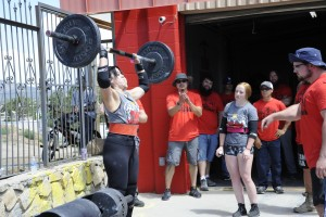 "(Press Staff Photo by Geoffrey Plant)  Patty Lewis is a member of the local strongman club, Team Ironstrongman, out of Ironworks Fitness. Lewis won first place in the women's masters category at Saturday's ""Ironstrongman III"" event."