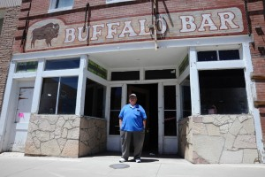(Press Staff Photo by Geoffrey Plant) Dennis Trujillo recently sold the Buffalo Bar and dance hall —AKA the old Cosgrove's Hardware —  to Anthony Quintana of Q's Bistro. The Buffalo had been in Trujillo's family for more than half a century.