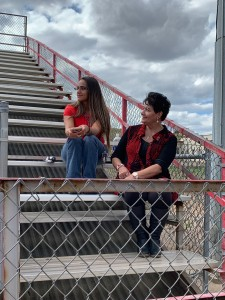 (Courtesy Photo) Substitute teachers Yolanda Amador and Annette Dominguez hang out at Cobre High School on Thursday. A House bill that was passed this legislative session has affected Silver and Cobre school districts substitutes.