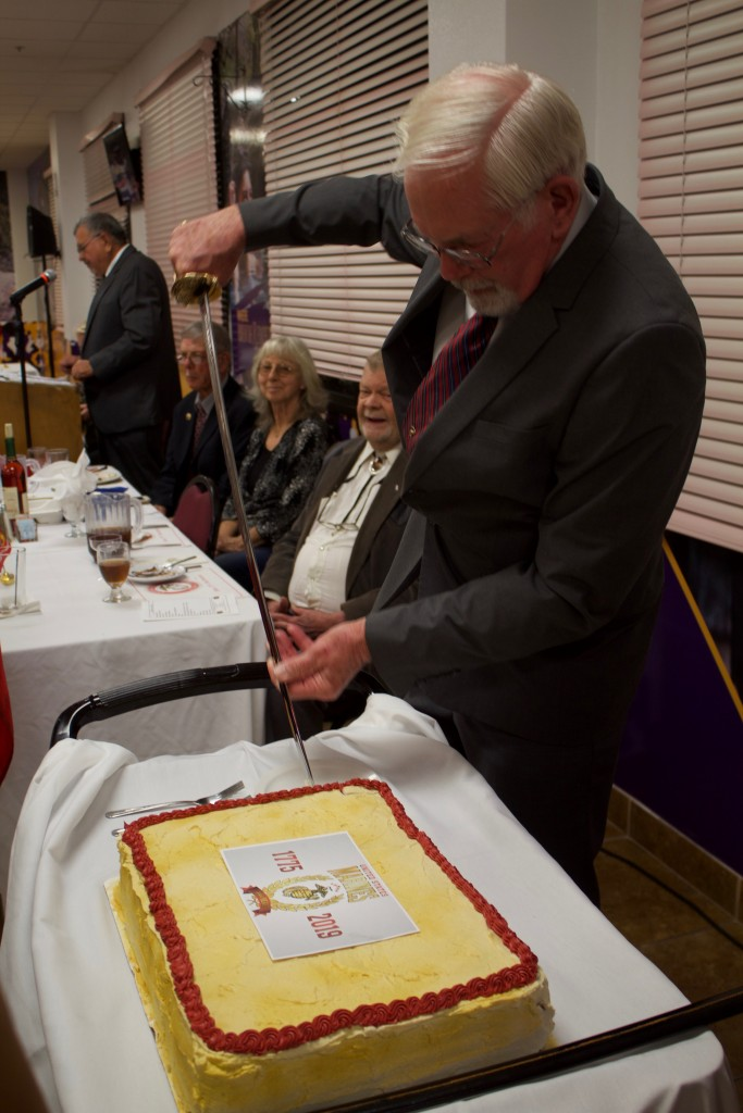 Dean Bearup cuts a cake during the Marine Corps Birthday Ball 2019 at Western New Mexico University on Sunday. The event was hosted by Marine Corps League Gaffney-Oglesby Detachment 1328 and celebrated the 244th Marine Corps birthday.