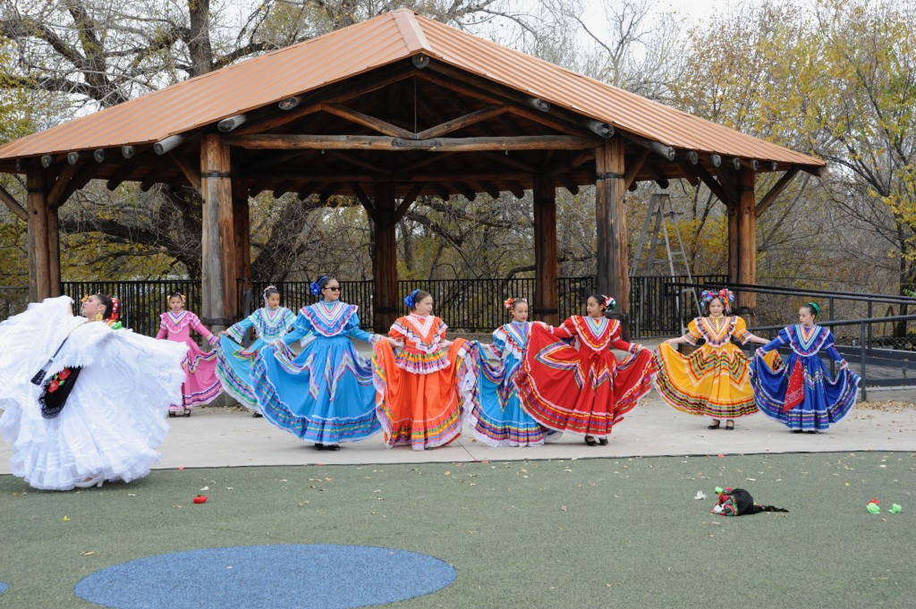 "(Press Staff Photo by Geoffrey Plant)  ""La Llorona,"" a piece of ballet folklorico performed by members of Luna Star Dance in Deming, attracted an audience of about 100 people during the Tamal Fiesta y Más on Saturday in Santa Clara."