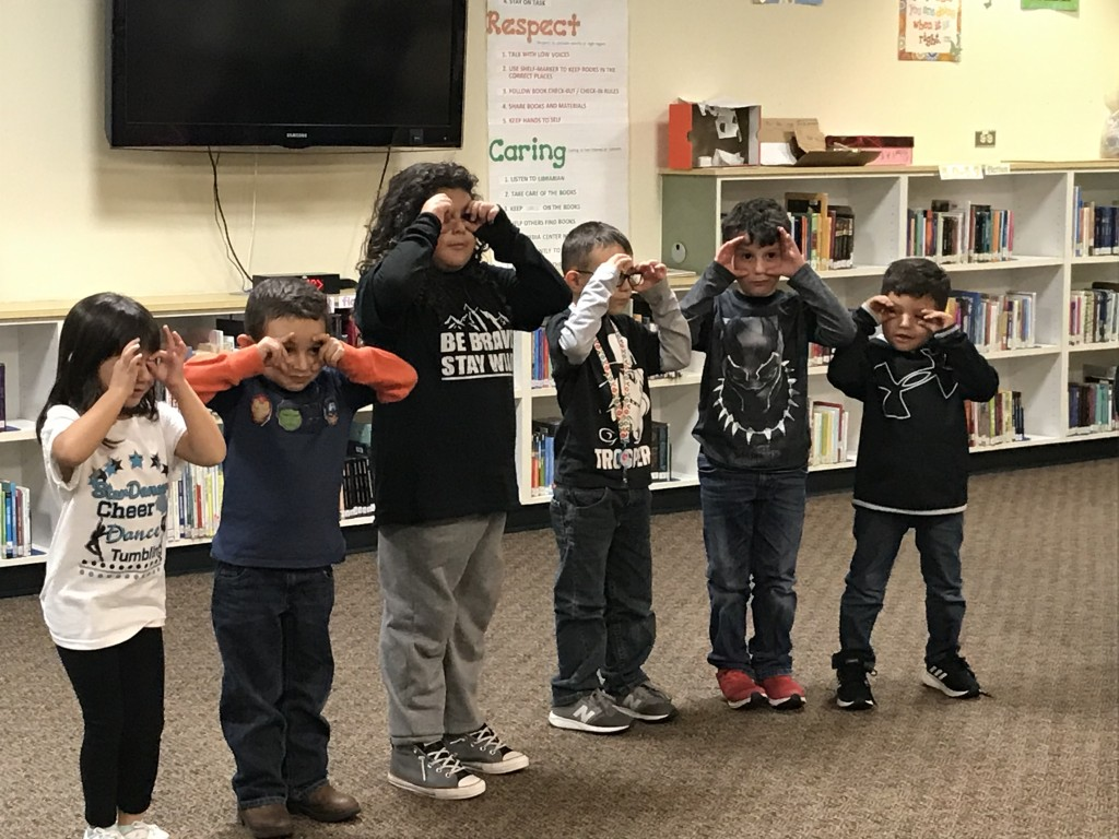 Kindergarten students Isabela Polanco, Gilbert Jimenez, Caleb Peña, Jyndric Torres, Reynaldo Maynes and Ryan Quintana perform in front of the Cobre Consolidated Schools' Board of Education on Monday at Hurley Elementary School. See full story on Monday's meeting on Page 14.