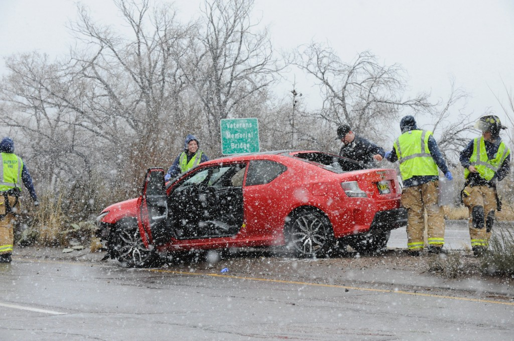 "Emergency personnel responded to a vehicle crash on N.M. 90 just south of the Veteran's Memorial Bridge around 3 p.m. Tuesday afternoon as heavy snow fell across Silver City. According to John Fausett, chief meteorologist at the National Weather Service El Paso Station, snow accumulations in Silver City Tuesday were much less than expected: ""About an inch. We thought it would dump snow,"" he said. ""Deming got five inches, though — that's crazy."" No information on the vehicle crash was available Tuesday night."