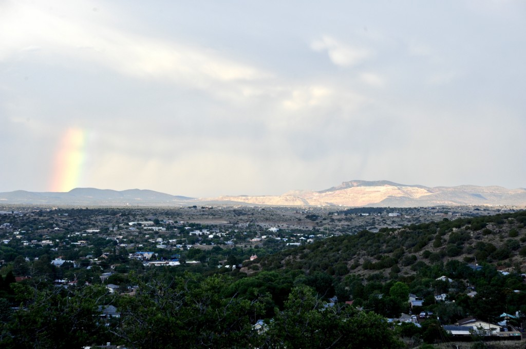 (Press Staff Photo by Geoffrey Plant)  Chino Mine as seen across Silver City from Market Street on Snake Hill on June 12.