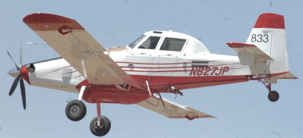 The Tadpole Fire remained at 6,600 acres burned Tuesday afternoon, according to a release from the Gila National Forest. The blaze was 25 percent contained. Above is one of the single engine slurry planes that have been battling the blaze taking off from the Grant County Airport recently.